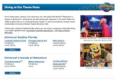 Dining at our Theme Parks http://piratenprincessvacations.com