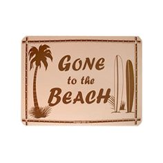 Gone to the Beach Sign ($20) ❤ liked on Polyvore