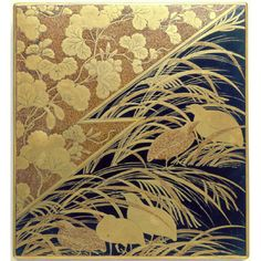 Inkstone Case with Design of Pampas Grass and Quail  c.1630 Japan