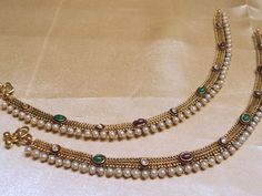 Find wide range of fashion jewellery, imitation, bridal, artificial, beaded and antique jewellery online. Buy imitation jewellery online from designers across India. India Jewelry, Pearl Jewelry, Bridal Jewelry, Gold Jewelry, Jewelry Accessories, Jewelry Design, Gold Anklet, Anklets, Gold Earrings