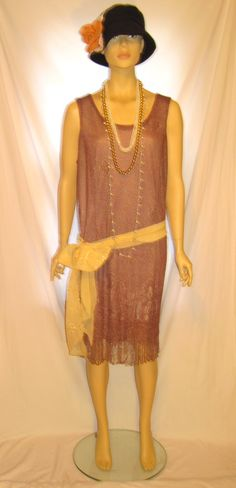 Hand dyed brown color plus size women's The Great Gatsby dress, 1920s plus size flapper dress, fringe hem sleeveless gatsby flapper dress by 777DressCode, $99.99