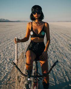 Festival Looks, Festival Gear, Music Festival Outfits, Festival Costumes, Rave Festival, Festival Fashion, Music Festivals, Burning Man Outfits, Models