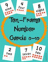 Kindergarten Lifestyle: Ten-Frame Number Cards FREEBIE