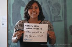 "Fill in the blank: ""Historic sites matter because...""  Our historic sites let us know why they (and other sites) are important: http://blog.preservationnation.org/2015/04/27/historic-sites-matter-because/  #history #preservation #savingplaces #historictravel #thisplacematters"