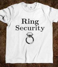 "Ring Bearer ""Ring Security"" Tee - @Va King, how about this for asking your ring bearer to be in wedding?"