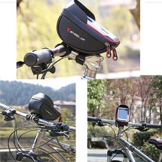 6inch Waterproof Touch Sceen Mobile Phone GPS Bag Handlebar Mouting Radar Detector, Electric Scooter, Car Lights, Car Audio, Automobile, Phone, Bags, Motorcycles, Touch