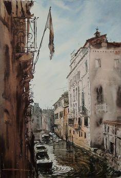 Tu recepcja — Watercolors by Sergiy Lysyy (lisbor) Watercolor Architecture, Watercolor Landscape, Watercolor Paintings, Watercolors, Drawing Sketches, Drawings, Art Oil, Cool Art, Awesome Art