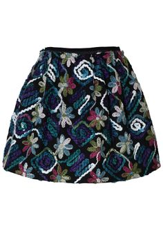 3D Floral Embroidered Skirt <3