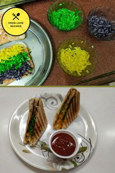 The rainbow food trend has already been around for few years, with foods like pizzas, smoothies, cakes etc. So we decided to make our favorite grilled cheese sandwich more colorful and brings out rainbow grilled cheese sandwich. Rainbow Grilled Cheese, Grill Sandwich, Grilled Bread, Rainbow Food, Food Trends, Melted Cheese, Avocado Toast, Love Food, Smoothies