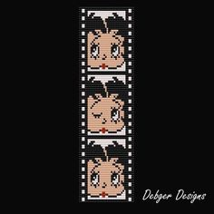 Betty Boop -Movie Star Loom Bracelet Cuff Pattern My mom would like this, I might have to make it for her :) Beaded Braclets, Beaded Bracelet Patterns, Bead Loom Patterns, Peyote Patterns, Friendship Bracelet Patterns, Beading Patterns, Stitch Patterns, Rainbow Loom Bracelets, Bead Loom Bracelets
