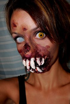 Halloween 2014 made my own prosthetic piece!