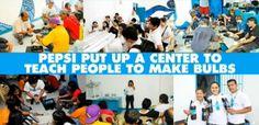 Pepsi porta la luce nelle case nelle Filippine, riciclando vecchie bottiglie e usando l'energia solare