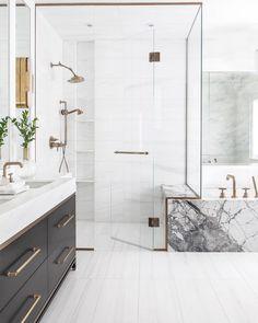 Elegant and luxury bathroom design ideas for a unique home decor. Elegant and luxury bathroom design ideas for a unique home decor. Bathroom Interior Design, Modern Bathroom Design, Marble Tub, Bathroom Renovations, White Bathroom, Luxury Bathroom, Bathrooms Remodel, Bathroom Decor, Beautiful Bathrooms