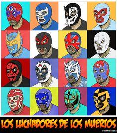 Luchadores de los Muertos by CitizenWolfie on deviantART