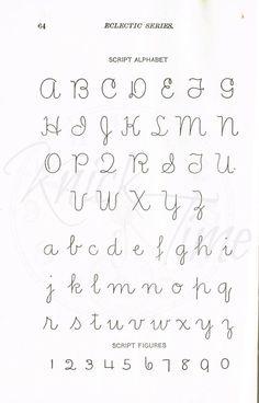 McGuffeys School Primer Alphabet Page by KnickofTime Calligraphy Fonts Alphabet, Cursive Alphabet, Hand Lettering Alphabet, Doodle Lettering, Handwriting Fonts, Lettering Styles, Script Fonts, Penmanship, Typographie Inspiration