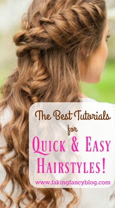 Thank God for Youtube, without these video tutorials for quick and easy hairstyles I'd be a hot mess all the time.
