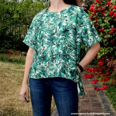 Up Sew Late: Jungle Top (V1454)