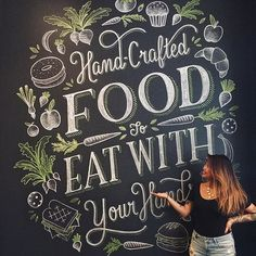Beautiful chalk board by @homsweethom | #typegang if you would like to be featured | typegang.com #typegangtw
