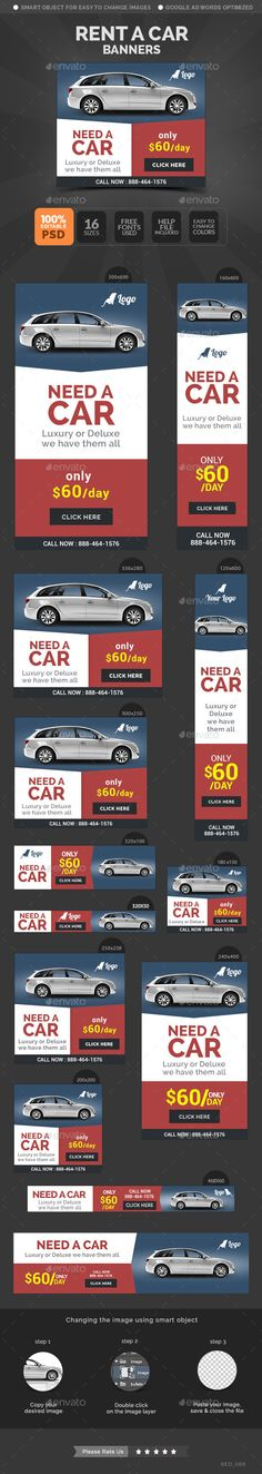 Car Rental Banners Template