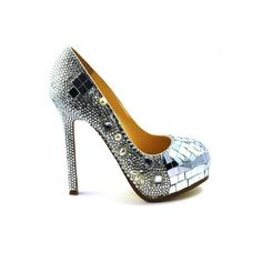 47e51d94f4f215 Lemonade Crystal Glitzy Mirror Shoes - 4EverBling Crystal Jewelry