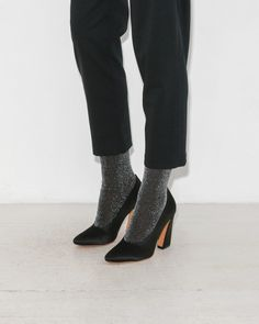 Black Lurex Sock by The Great Eros