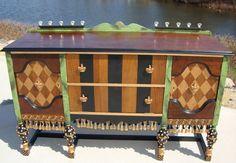 hand painted furniture, custom furniture, hand decorated furniture