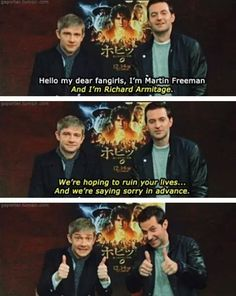 This isn't specifically Sherlock, but I think the Martin Freeman fangirls need to see this.