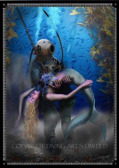 Diving Historical Prints | Scuba Diver | Offshore Diver | Hard Hat Diver - Diving Prints Page 2