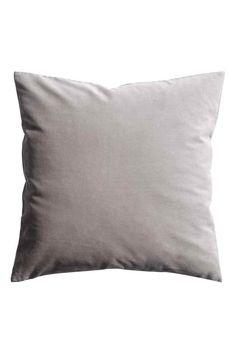 Бархатный чехол для подушки - Серый - HOME   H&M RU