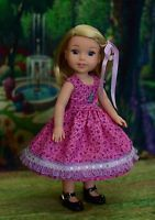 """""""Birthday Girl"""" Dress Outfit for American Girl Wellie Wishers, Hearts for Hearts"""