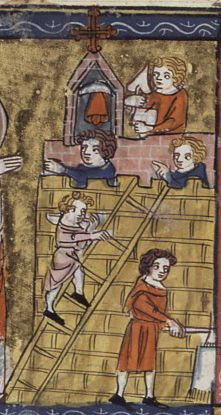 Builders  From Lives of the Saints, 1340