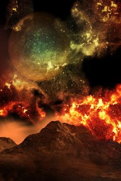 Explosion In The Planet Painting  - Explosion In The Planet Fine Art Print