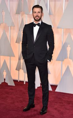2015 Oscars: Red Carpet Arrivals Chris Evans, 2015 Academy Awards