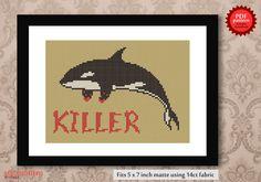 Orca or Killer Whale PDF Cross stitch pattern от Richearts