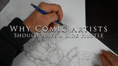 In this video I talk about having a side hustle and why I think it is important for comic book artists. I want to disclose that I don't make my living as a p. Comic Book Artists, Comic Artist, Comic Books, Comic Drawing, Hustle, Comics, Videos, Youtube, Cartoons