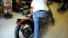 103 pound girl kicks starts a 1976 Harley ironhead sportster hardtail/chopper/bobber kick start only
