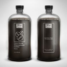 Runner-up design by Mirza Agic Coffee Label, Coffee Menu, Coffee Packaging, Coffee Branding, Bottle Packaging, Bottle Labels, Brand Packaging, Packaging Design, Iced Coffee