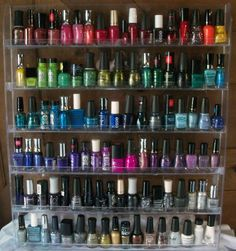 Finally here! My very own nail polish rack! <3