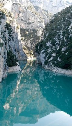 Verdon Gorge in southeastern France • photo: Philippe Chauveau Flickr