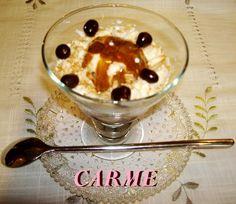 Copa de mousse de queso con helado de café. Ver la receta http://www.mis-recetas.org/recetas/show/36757-copa-de-mousse-de-queso-con-helado-de-cafe