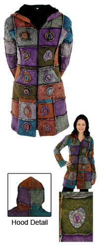 Potpourri Patchwork Stonewashed Coat - Purchase funds 150 cups of food for the hungry!