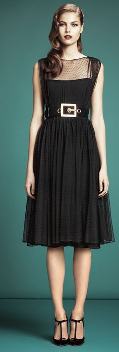 Gucci PreFall 2013 #littleblackdress #musthavedress #gucci