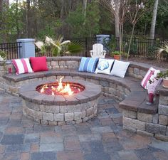 I love fire pits, it is so relaxing to sit next to a burning fire. I like to make smores, and have cookout by the fire place. Having something like this in the backyard would be a great gathering place for friends and family. http://www.heritagell.com/landscaping