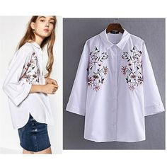 (PRE ORDER) ¾ SLEEVE EMBROIDERY SHIRT