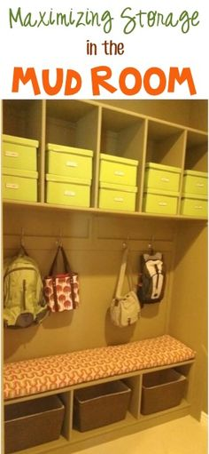Home Decor Tip: Maximizing Storage in the Mud Room! ~ at TheFrugalGirls.com #homedecor #mudrooms #thefrugalgirls