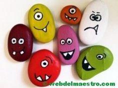 looks like fun Pebble Painting, Pebble Art, Stone Painting, Diy Painting, Rock Painting, Rock Crafts, Diy And Crafts, Arts And Crafts, Diy For Kids