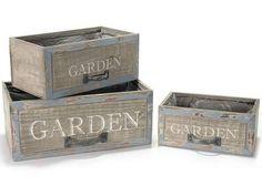 Cache pots à tiroir Jardin en bois.