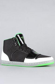 5bcda6dc16b Creative Recreation The Cesario Sneaker in Black White Green    Karmaloop.com - Global Concrete