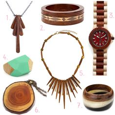wooden jewelry | Wooden Jewelry, A Current Obsession | Brighter Sides