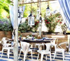 The Art of Coastal Outdoor Entertaining & Dining - Completely Coastal Nautical Decor Ideas, Inspiration & Shopping